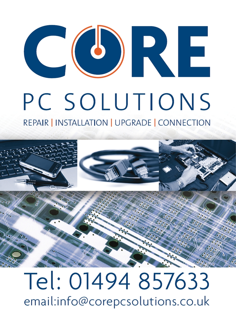 Core PC Solutions, Seer Green - Beaconsfield - Gerrards Cross - Chalfont St Giles - Chalfont St Peter - Penn - Forty Green - Knotty Green - Loudwater and surrounding areas in the Chilterns PC Repairs, PC installation, PC upgrades and connection. Computer repairs, Computer upgrades